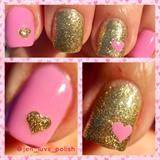 Glitter Heart 💖 Nails