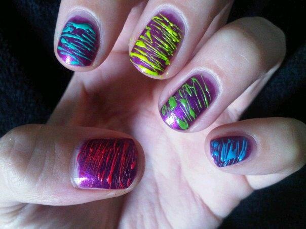 Spun sugar manicure