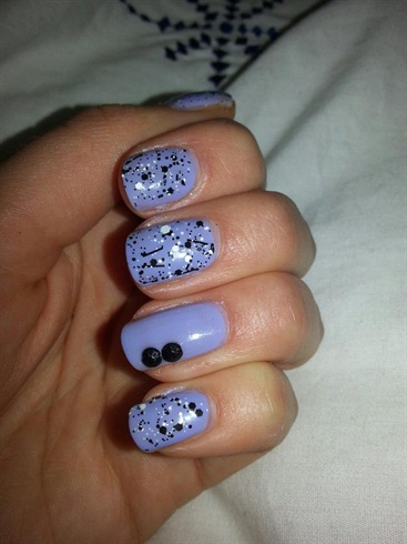 Purple with black and white glitter
