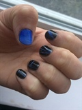 Blue Gradient With Black
