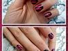 lacerazione rosa su nero