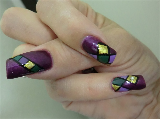 Outlined Mardi Gras Colors