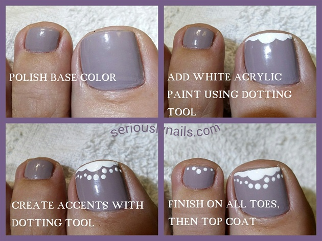 Step by Step easy Toe Nail Art