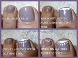 Step by Step easy Toe Nail Art