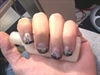 Black Tips W/ silver glitter