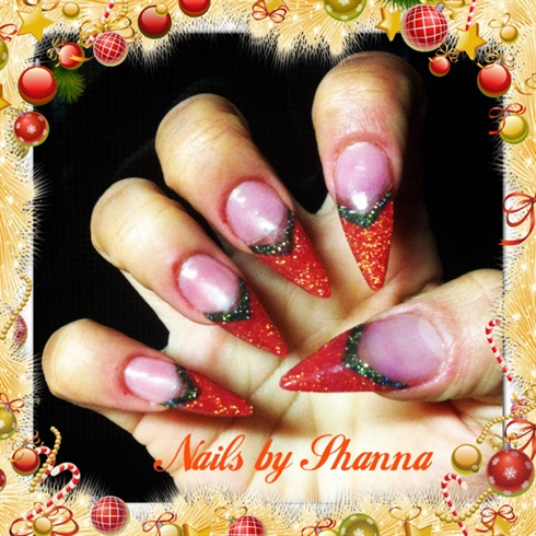 Christmas Stiletto Nails.Christmas Stiletto Nails By Shannas