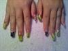 lime green n black