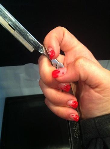 blood splatter dexter inspired nails