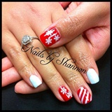 Snow flakes and candy canes!