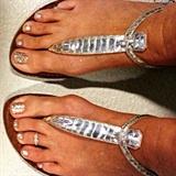 Glittery cruise toes!