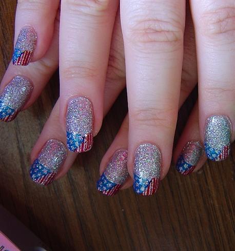 July 4th nails 2011