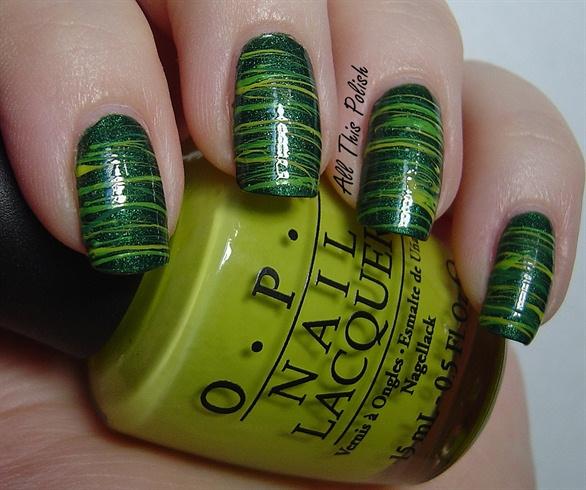 Green Spun Sugar manicure