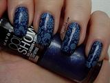 Blue Flowers on Denim