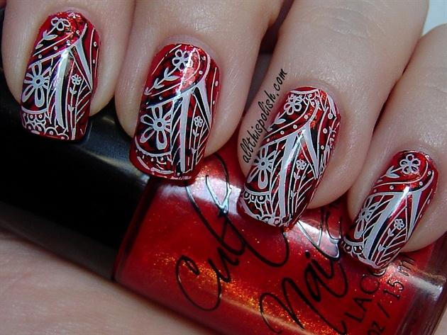 Red Bandanna Nails