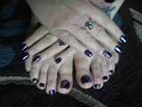 purple tips and toes