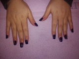 acrylic overlay- purple nails