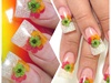 Glitter & Flowers Nail Art Design