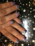 Acrylic Overlay/Glitter Fade & Stars