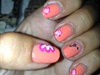 Flowers On Orange Polish