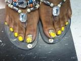 Mustard Yellow toes