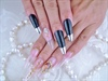 chrome nail French & clear