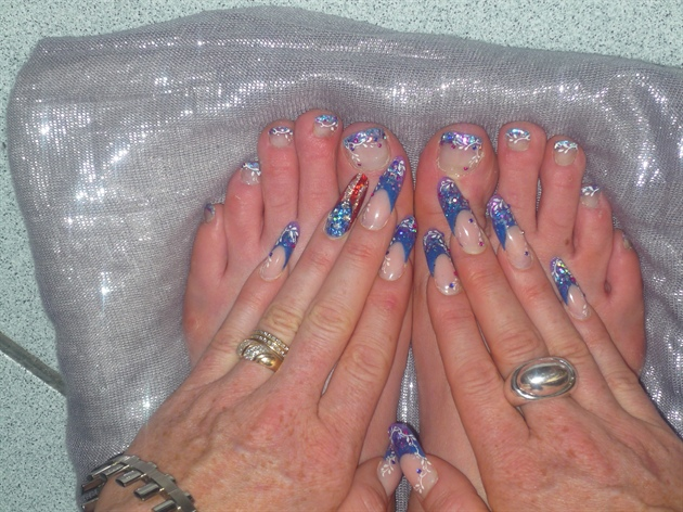 nails formy american holidays