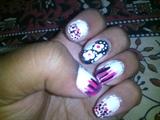 all pink white n black