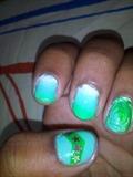 messy nail art