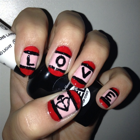 Valentine's Day nails #2