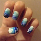 Blue ombre water marble