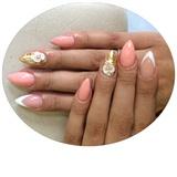 Almond Gold&white