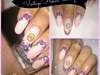 Vintage rose nail design