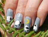 Lullaby Sheep Nail Art