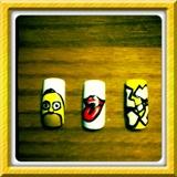 Homer, rolling stones, olymics nails