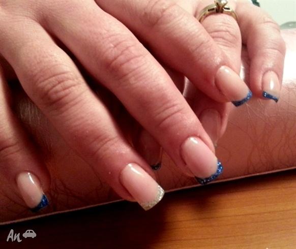 Glitter French Nails