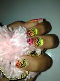 Sunset Chevron Nails
