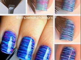 Ombré Stripe With Fan Brush