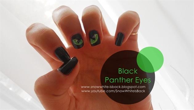 Black Panther Eyes Nail Art Gallery