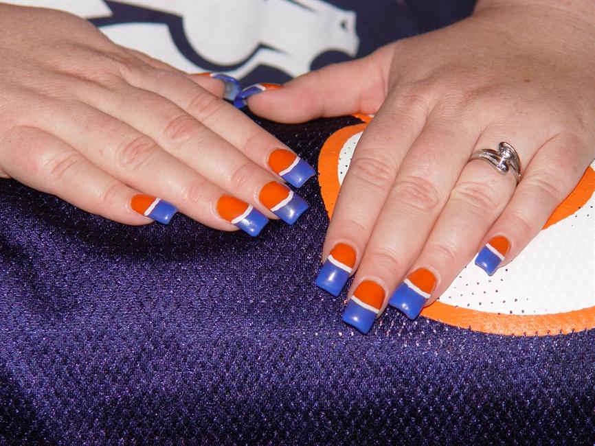 Denver Bronco nails - Nail Art Gallery
