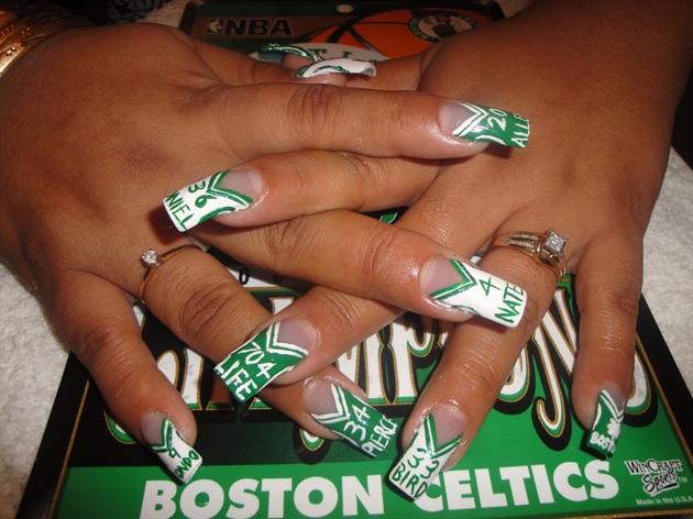 Boston Celtics Jerseys Nail Art Gallery