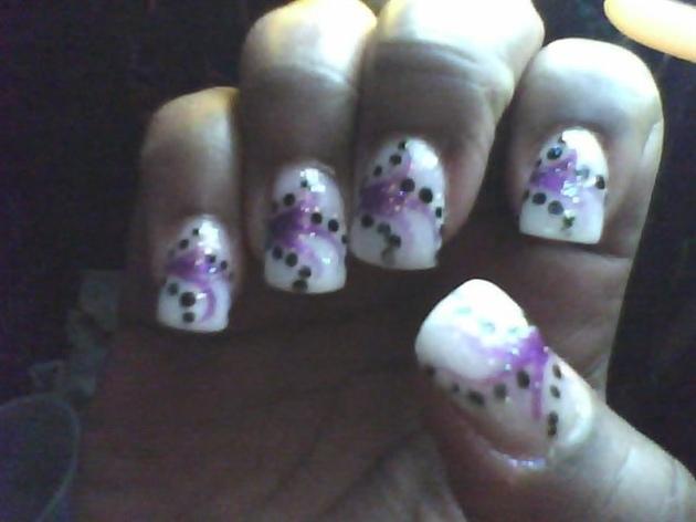 purple white and black