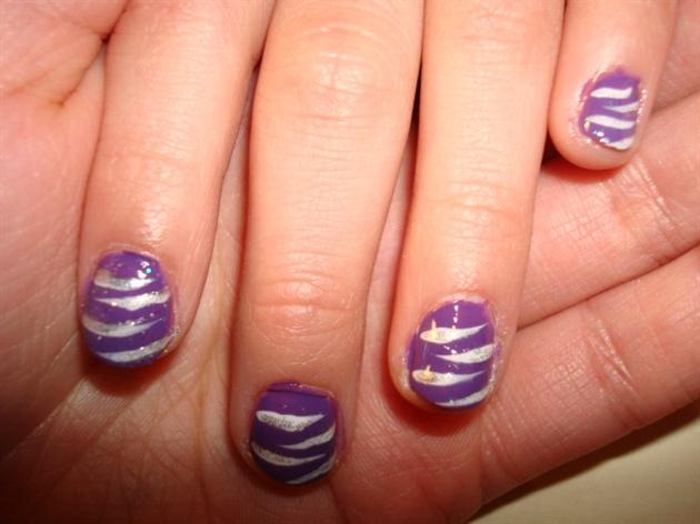 purple white zebra