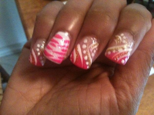 pink white n gold
