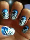 blue white n black