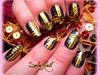 Nail art doré