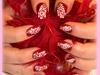 Nail art fleur filante