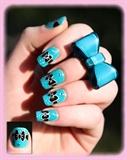 Nail art petits noeuds
