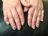 Acrylic on short, natural nails.