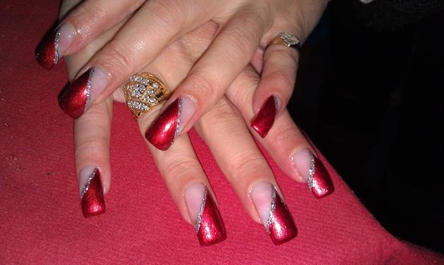Gel on built up nails