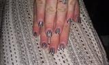 Abstract hand painted natural nails